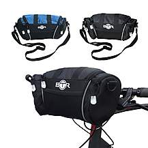 image of Btr Handlebar Bike Bag With Removable Shoulder Strap