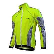 image of Funkier Wj-1301 Nylon Double-stitched Lightweight Waterproof Jacket In Yellow - Large