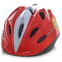 image of Funkier Talita Kids Helmet In Fire Dept Red - Small (47-52cm)