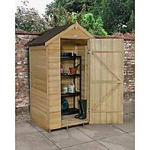 image of 4x3 Overlap Pressure Treated Apex  Shed No Windows