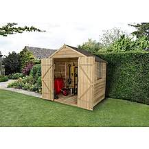 image of 5x7 Overlap Pressure Treated Double Door Apex Shed