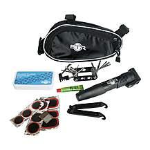 image of Btr Bike Bag With Tyre Puncture Repair Kit, 14-in-1 Multi-function Tool And Bike Mini Pump