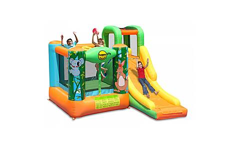 image of Jungle Adventure Kids 10ft Bouncy Castle With Slide