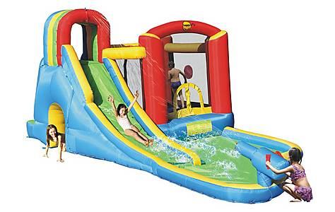 image of Splash Wave Fun Zone 20ft Inflatable Waterslide 9047n