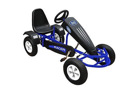 image of Duplay Velocity Racer Kids Ride On Go Kart - Blue