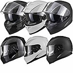 image of Black Titan Sv Solid Motorcycle Helmet