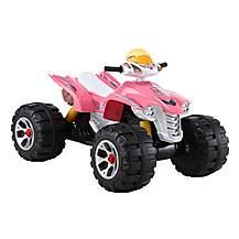 image of BIG Ride On Electric Raptor Quad Bike 12V - Pink