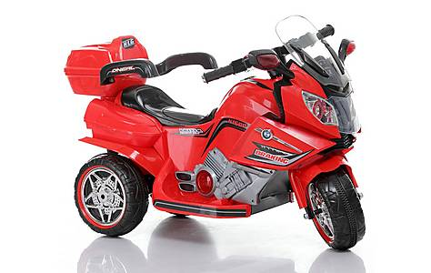 image of Duplay 12v Kids Electric Ride On Mini Motorbike - Red