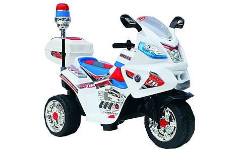 image of Duplay 6v Kids Electric Police Bike - White