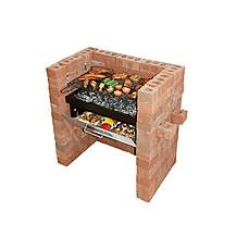 image of Bar-Be-Quick Built In Grill & Bake Charcoal Barbecue