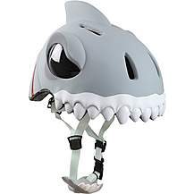 image of Crazy Safety Childrens Cycling Helmet White Shark S-M 49-55cm