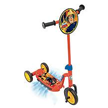 image of Fireman Sam Kids Childs Boys Light & Sound Rescue Tri-Scooter