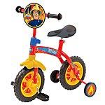 image of Fireman Sam Kids Childs Boys Fireman Sam 2 in 1 10inch Training Bike
