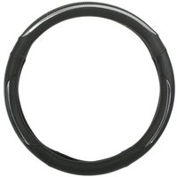 Halfords Steering Wheel Cover - Black/Silver Stripe