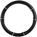 image of Halfords Black & Chrome Steering Wheel Cover