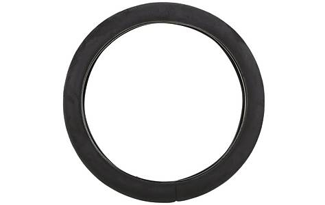 image of Halfords Plush Steering Wheel Cover - Black