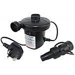 image of Yellowstone Powerful Electric Airbed Pump 3 Valve Adaptors