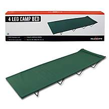 image of Milestone 4 Legs Folding Single Camp Bed Green