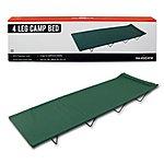 image of Milestone 4 Legs Folding Single Camp Bed Green