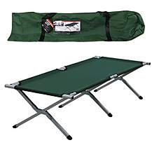 image of Milestone Folding Single Camp Bed Green