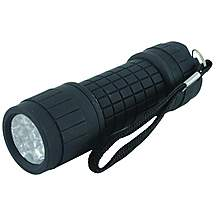image of Yellowstone 9 Led Rubber Handheld Torch Flashlight