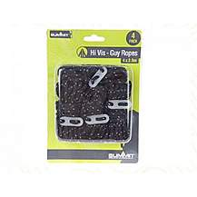 image of Summit Black High Vis Guy Ropes With Tensioners - 4 Pack