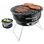 image of Yellowstone Portable Charcoal Grill Bbq With Cooler Bag