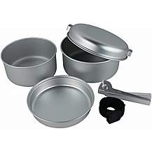 image of Yellowstone 5piece Aluminium Cook Set Silver