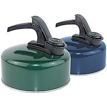 image of Yellowstone 1L Aluminium Whistling Kettle Green