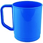 image of Yellowstone 275ml Plastic Campers Travel Mug Blue