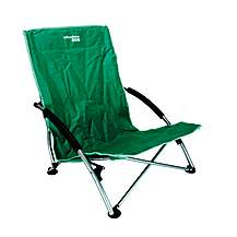 image of Yellowstone Low Profile Folding Camping Chair Green