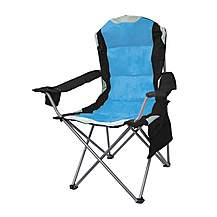image of Yellowstone Mapleton Padded Camping Chair Blue