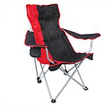 image of Yellowstone Mapleton Hi Back Reclining Chair Red
