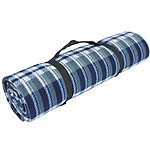 image of Yellowstone Fleece Picnic Blanket With Waterproof Back Blue