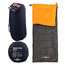 image of Milestone Envelope Single Sleeping Bag Black/orange 180 X 75cm