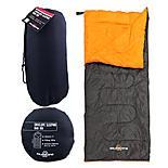 Milestone Envelope Single Sleeping Bag Black/Orange 180 x 75cm