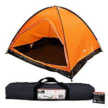 image of Milestone 4 Man Camping Dome Tent Orange