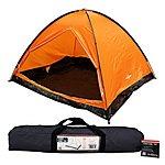 image of Milestone 4 Man Camping Dome Tent Orange