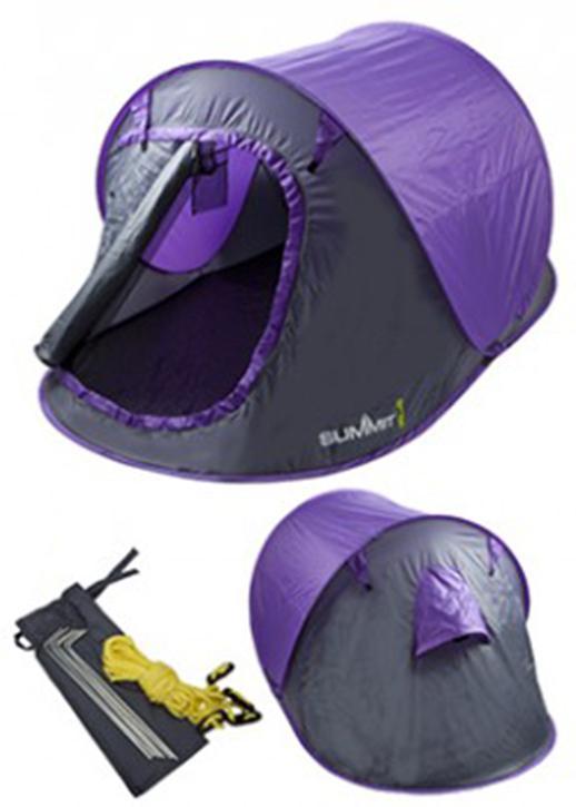 Summit 2 Man Pop Up Tent 3 Season Purple  sc 1 st  Halfords & Summit 2 Man Pop Up Tent 3 Season...