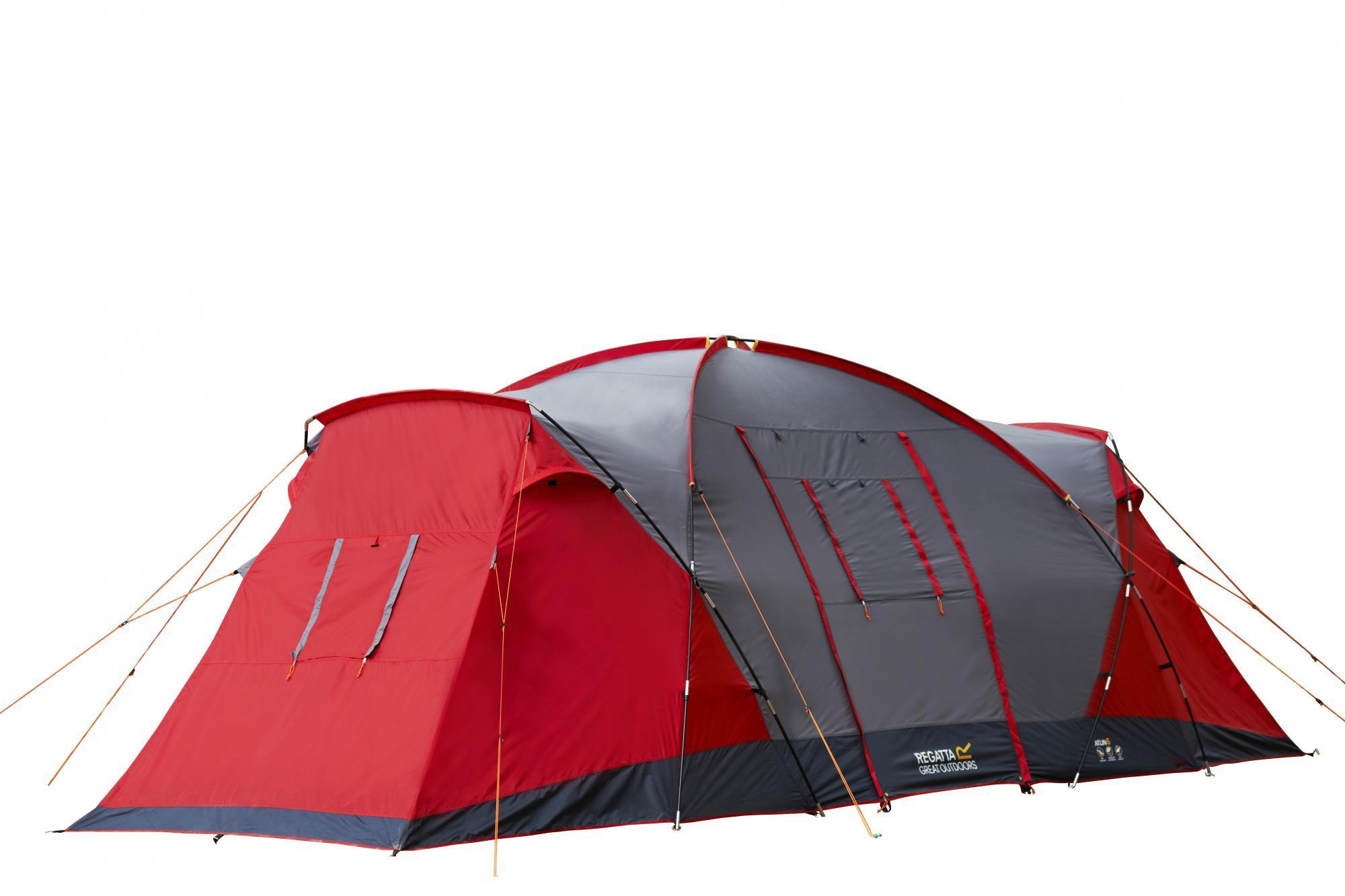 Regatta 6 Man Atlin Vis-a-vis Tunnel Tent Red  sc 1 st  Halfords & Regatta 6 Man Atlin Vis-a-vis Tunne...