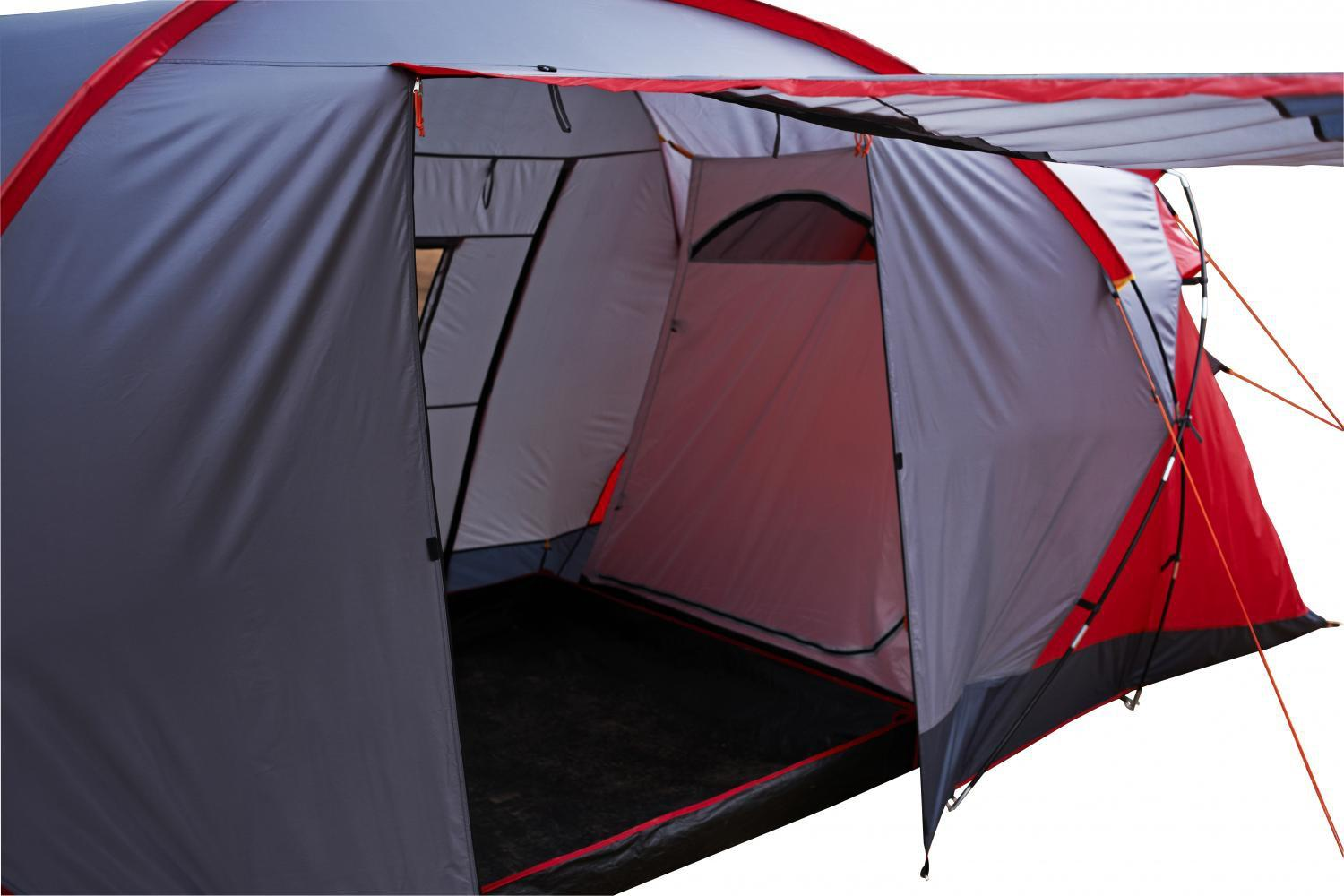 Regatta 6 Man Atlin Vis-a-vis Tunnel Tent Red & Regatta 6 Man Atlin Vis-a-vis Tunne...