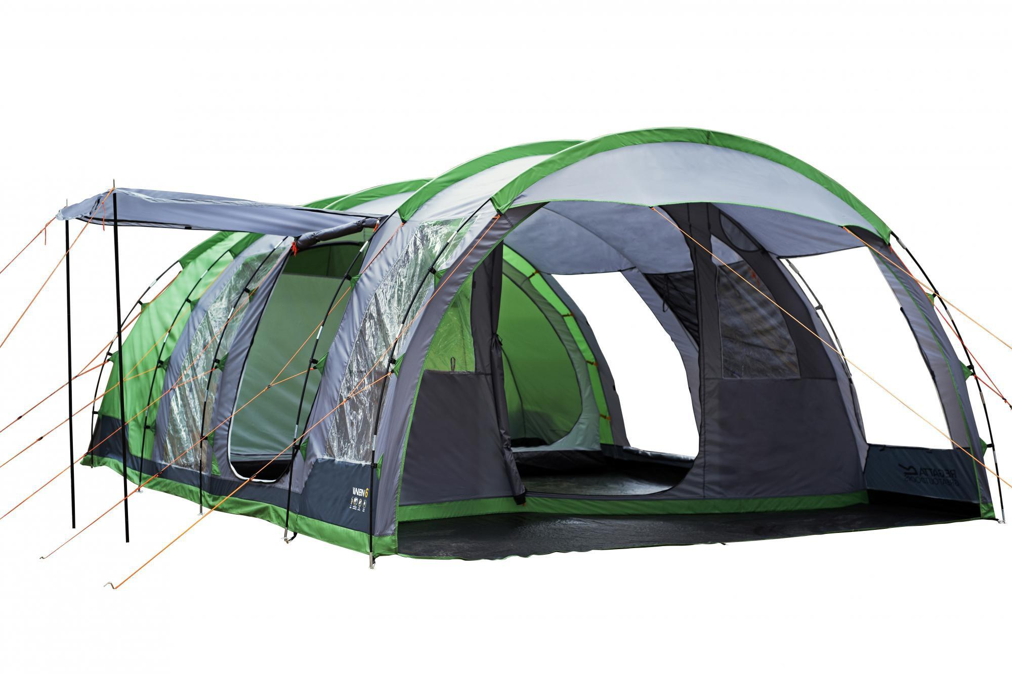Regatta Tunnel Tent - 6 Man Vanern Family Tent - Green  sc 1 st  Halfords & Regatta Tunnel Tent - 6 Man Vanern...