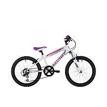 image of Freespirit Chaotic 20in Girls Junior Mountain Bike White/Purple 20in
