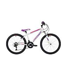 image of Freespirit Chaotic 24in Girls Junior Mountain Bike White/Purple 24in
