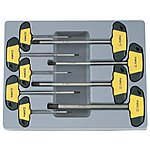 image of 9pc Hex Screwdriver T Handle Set