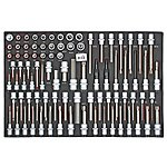 image of 88pc 3/8In and 1/2In Drive Socket Tray Set