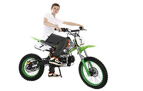 image of 2015 Hawkmoto 125cc Field Style Pit Bike Green - Bulldog