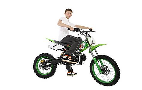image of 2015 Hawkmoto 125cc Field Style Pit Bike Green - Joker