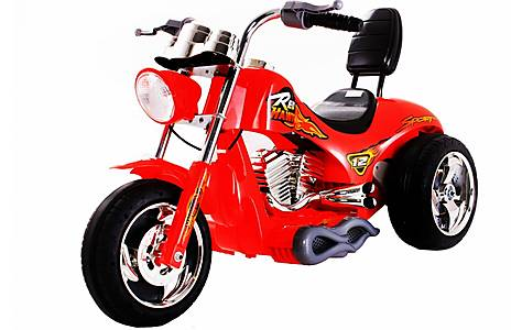 image of 6V Chopper Style Ride On Bike Red