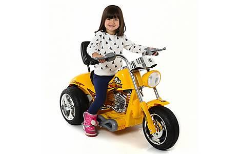 image of 6V Chopper Style Ride On Bike Yellow
